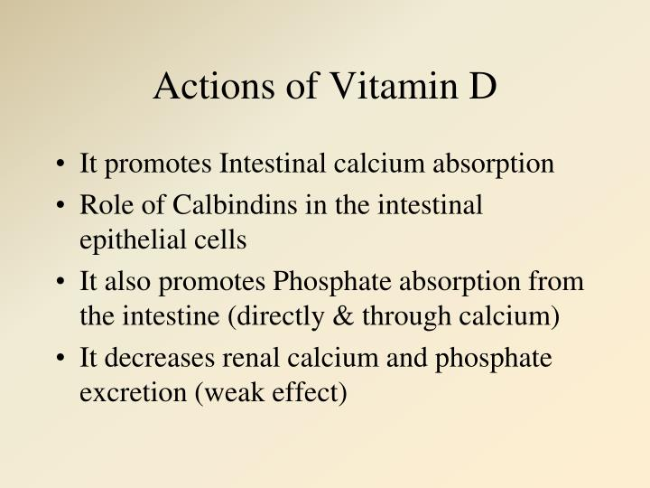 Actions of Vitamin D