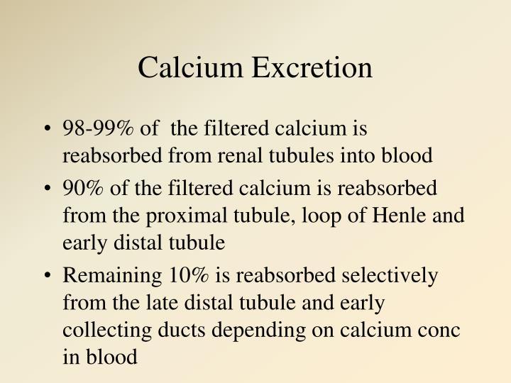 Calcium Excretion