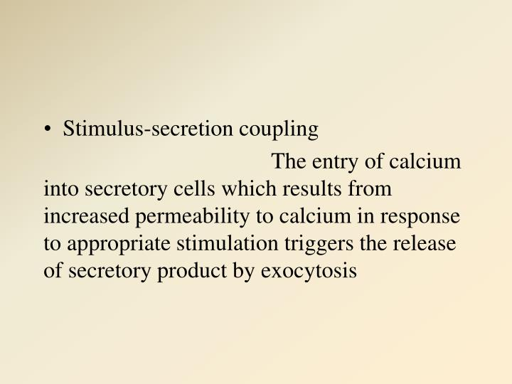 Stimulus-secretion coupling