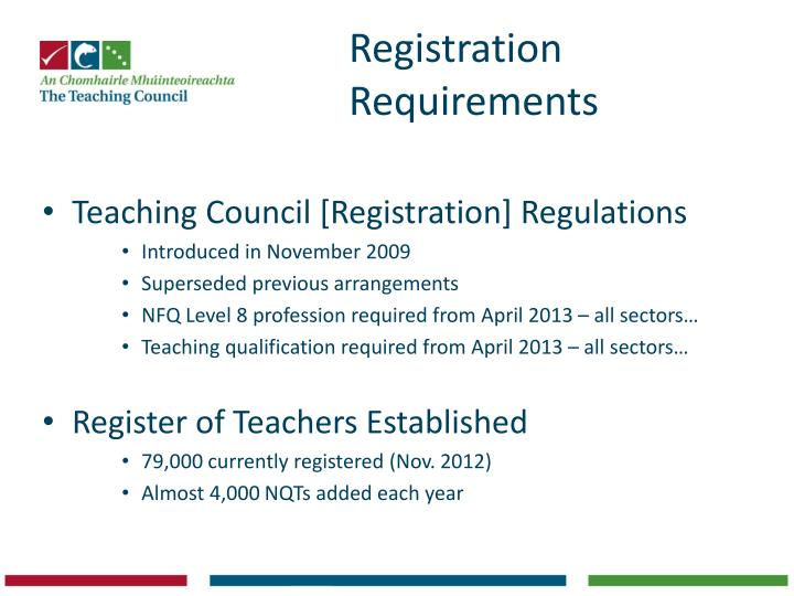 Registration Requirements