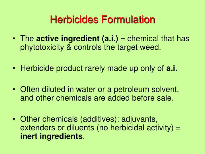 Herbicides Formulation