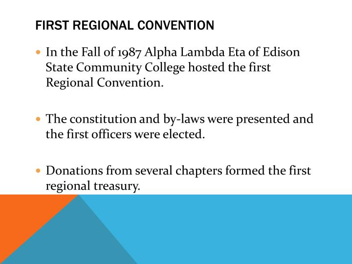 First Regional Convention