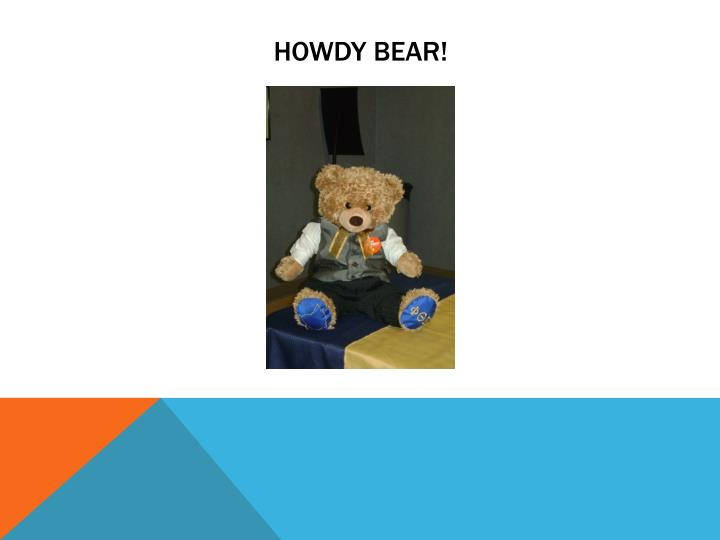 HOWDY Bear!