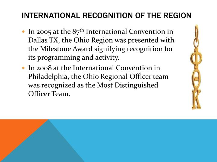 International Recognition of the Region