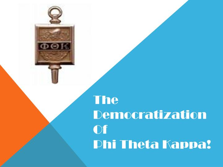 The Democratization