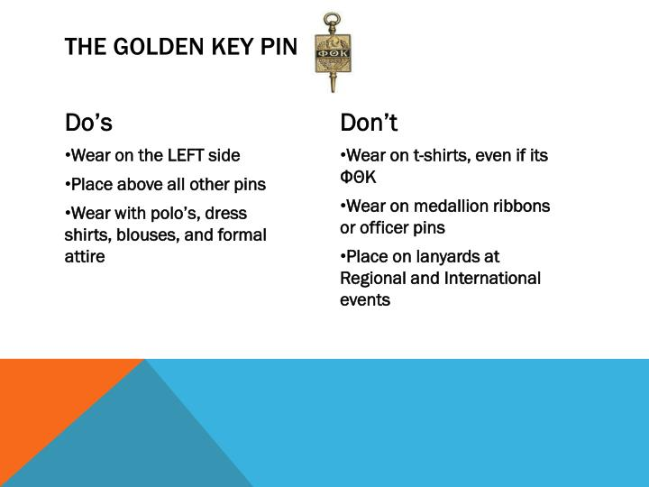 The Golden Key Pin
