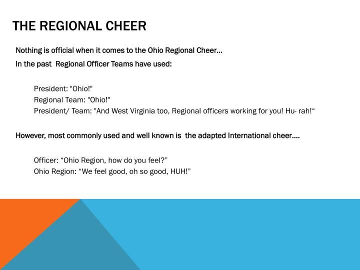 The Regional cheer