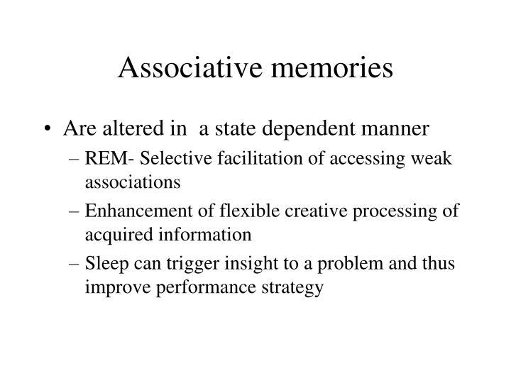 Associative memories