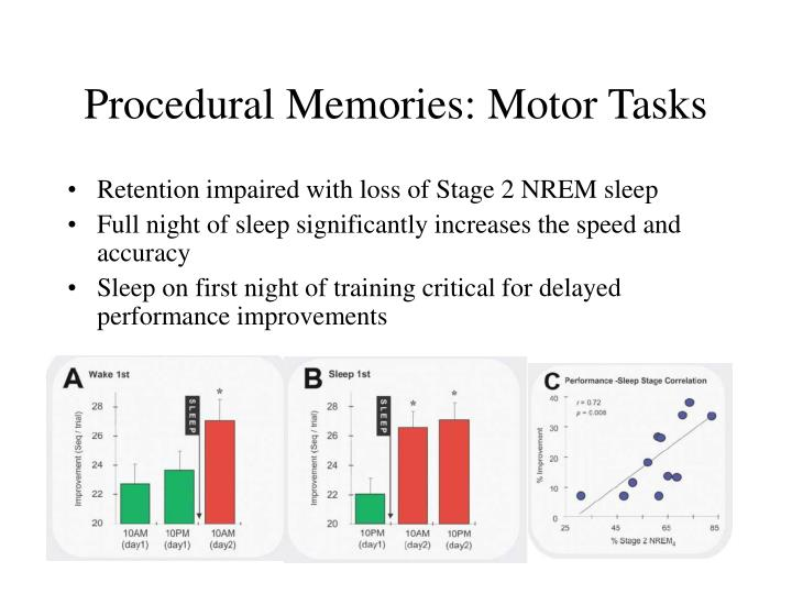 Procedural Memories: Motor Tasks