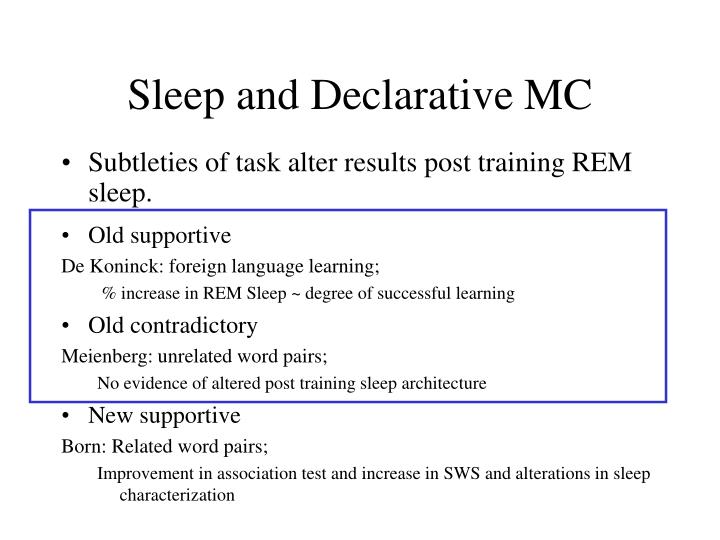 Subtleties of task alter results post training REM sleep.