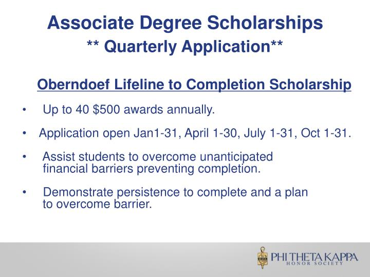 Associate Degree Scholarships