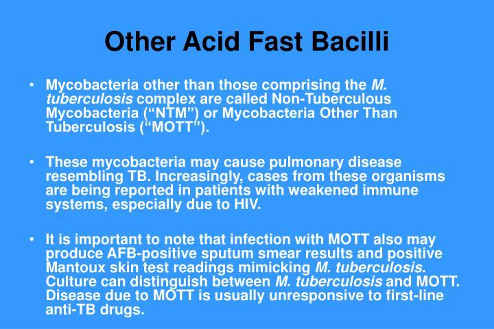 Other Acid Fast Bacilli