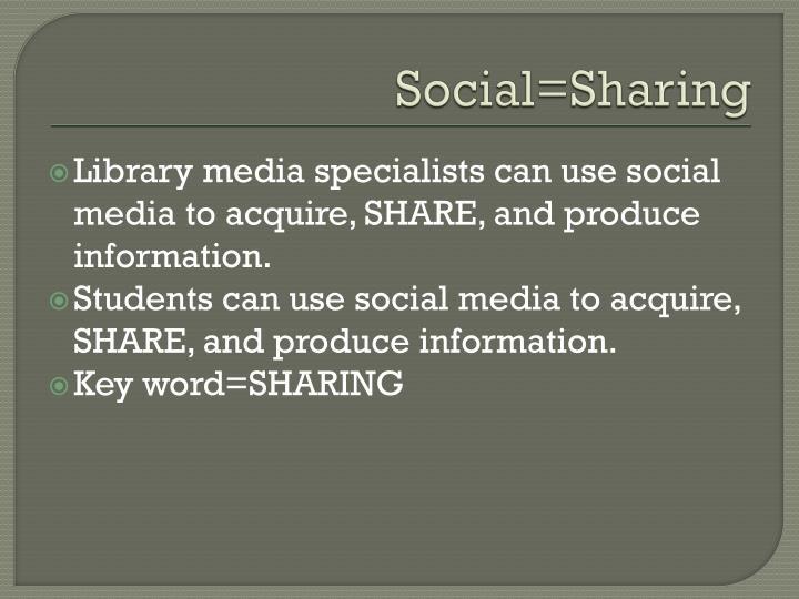 Social=Sharing