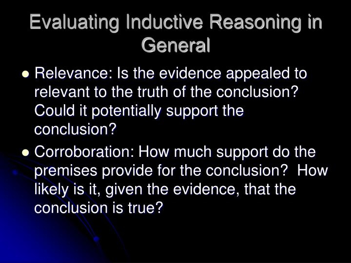 Evaluating inductive reasoning in general