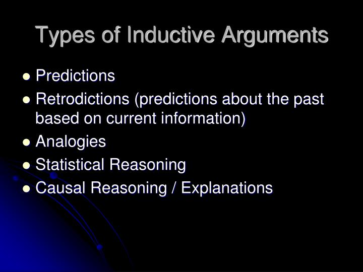 Types of Inductive Arguments
