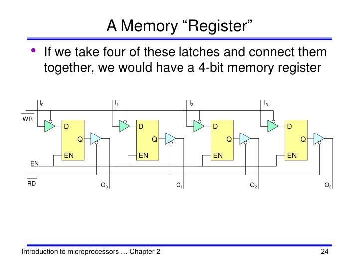 """A Memory """"Register"""""""