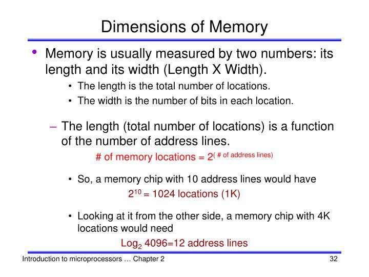 Dimensions of Memory