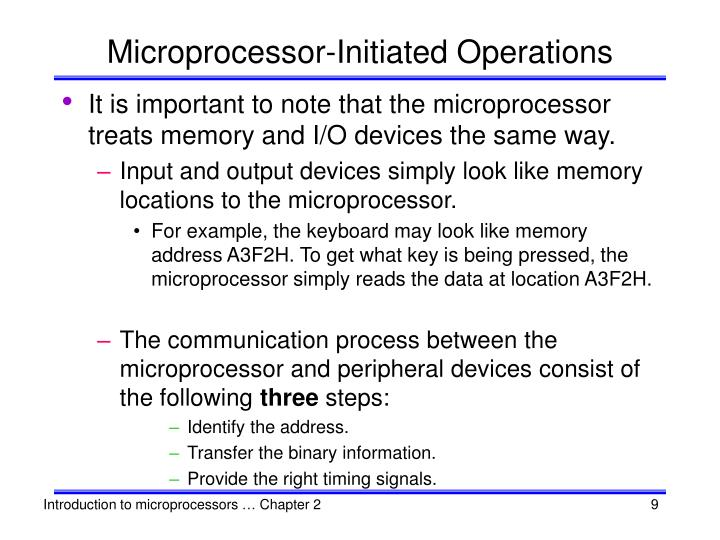 Microprocessor-Initiated Operations