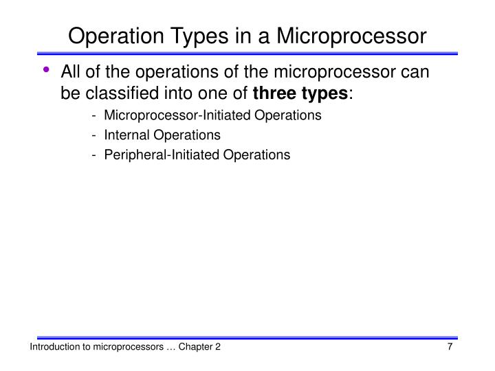 Operation Types in a Microprocessor