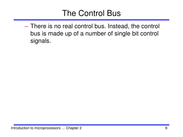 The Control Bus