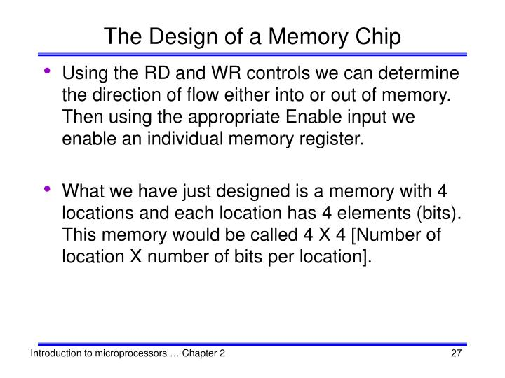 The Design of a Memory Chip