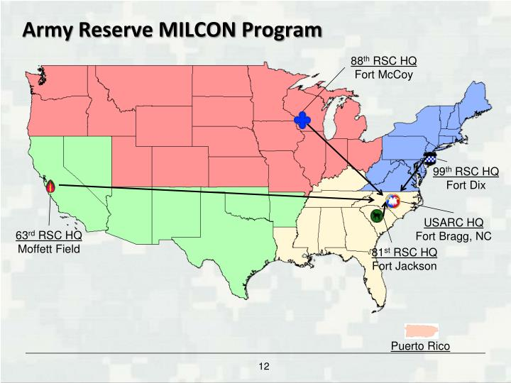 Army Reserve MILCON Program