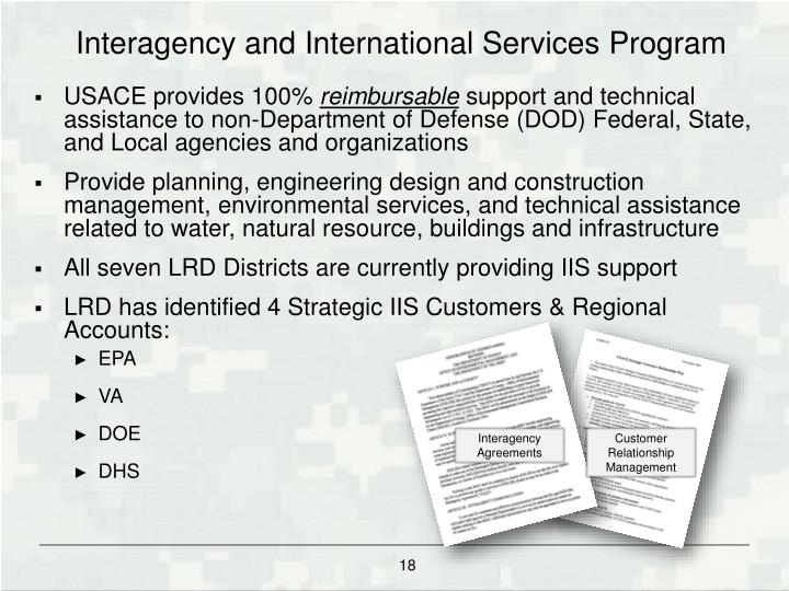 Interagency and International Services