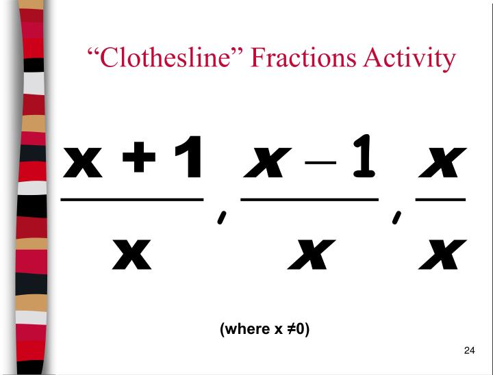 """Clothesline"" Fractions Activity"