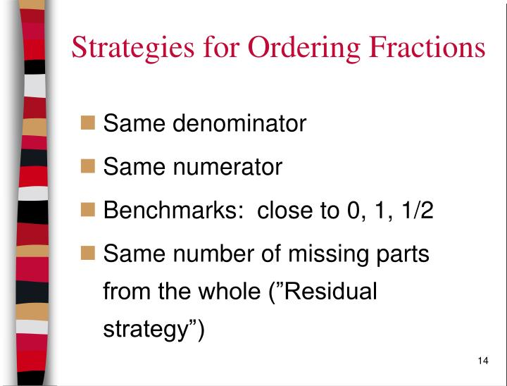 Strategies for Ordering Fractions