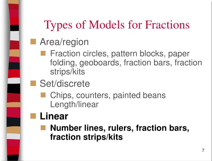 Types of Models for Fractions