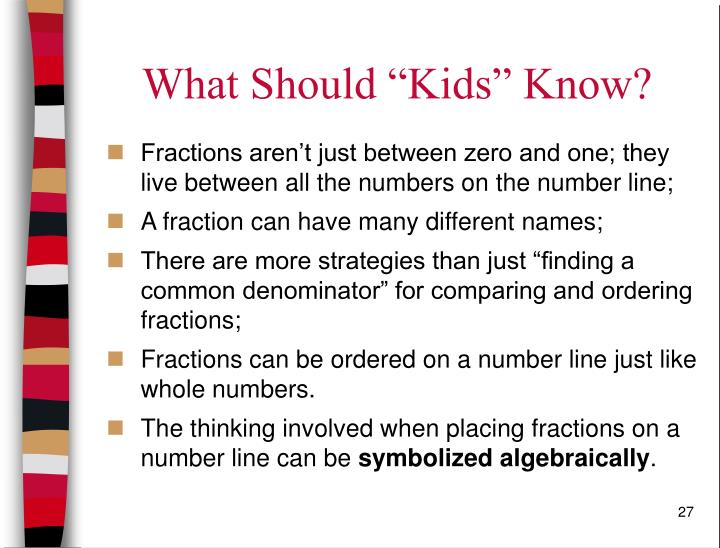 "What Should ""Kids"" Know?"