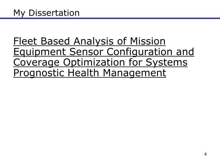 My Dissertation
