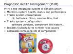 prognostic health management phm