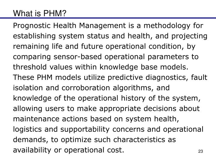 What is PHM?
