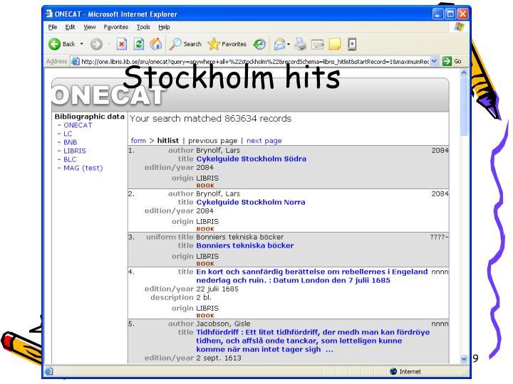 Stockholm hits