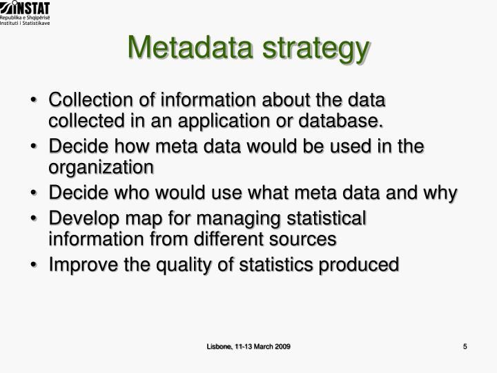 Metadata strategy