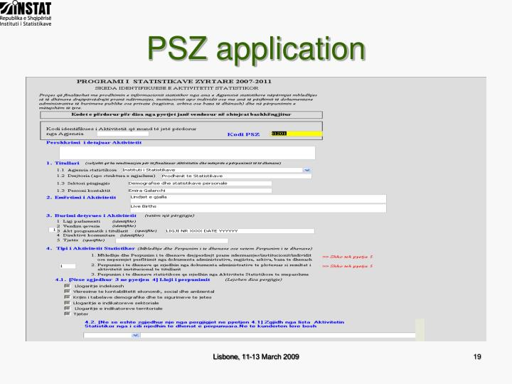 PSZ application