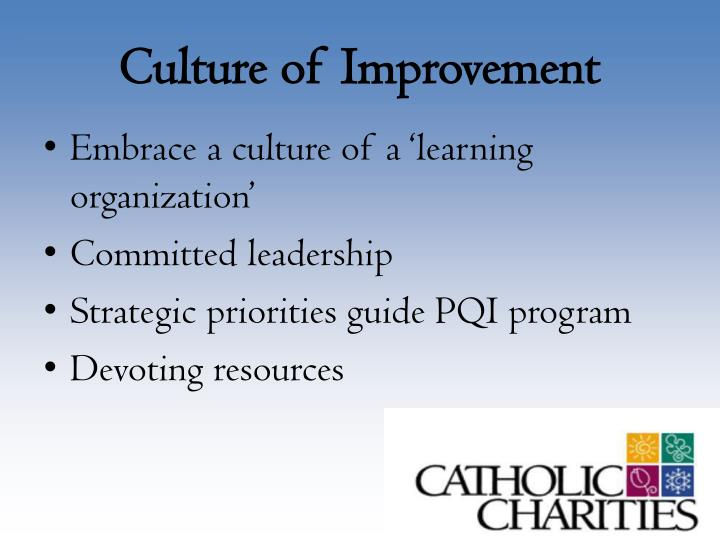 Culture of Improvement