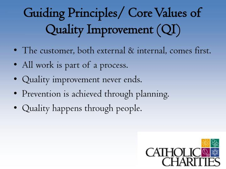 Guiding Principles/ Core Values of Quality Improvement (QI)