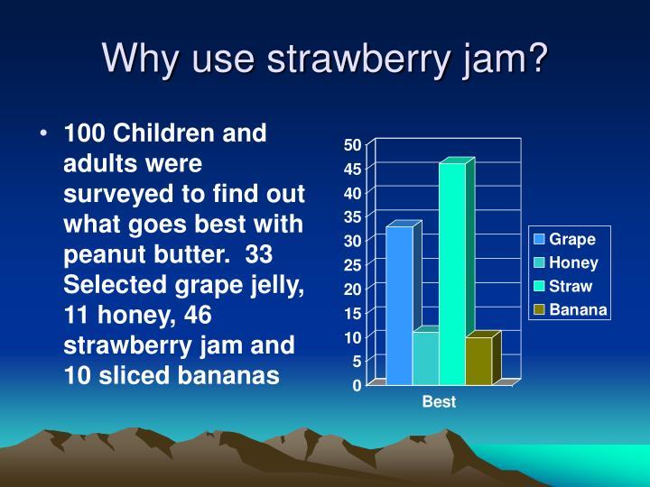 Why use strawberry jam?