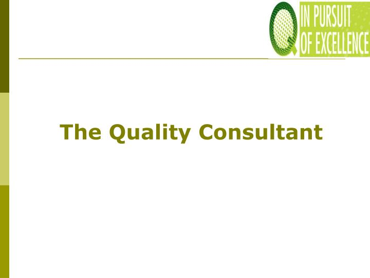 The Quality Consultant