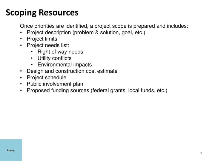 Scoping Resources