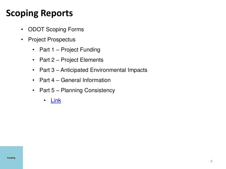 Scoping Reports