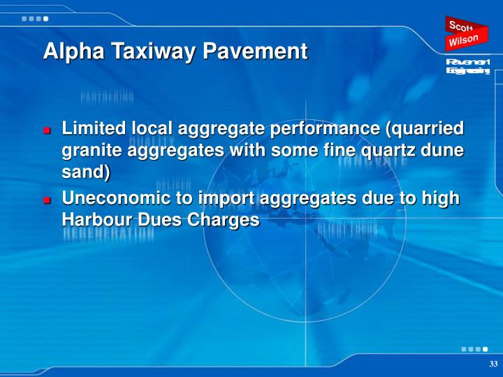 Alpha Taxiway Pavement