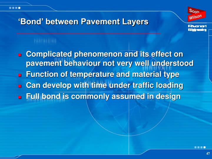 'Bond' between Pavement Layers