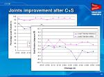 joints improvement after c s