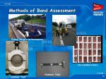 methods of bond assessment
