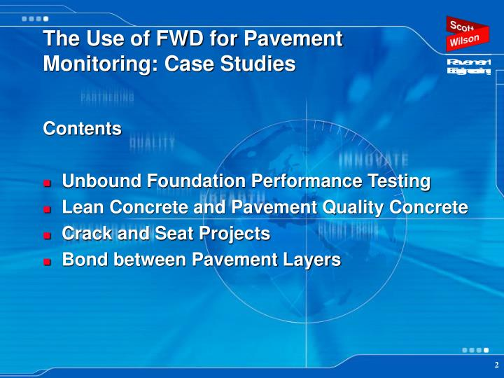 The use of fwd for pavement monitoring case studies1