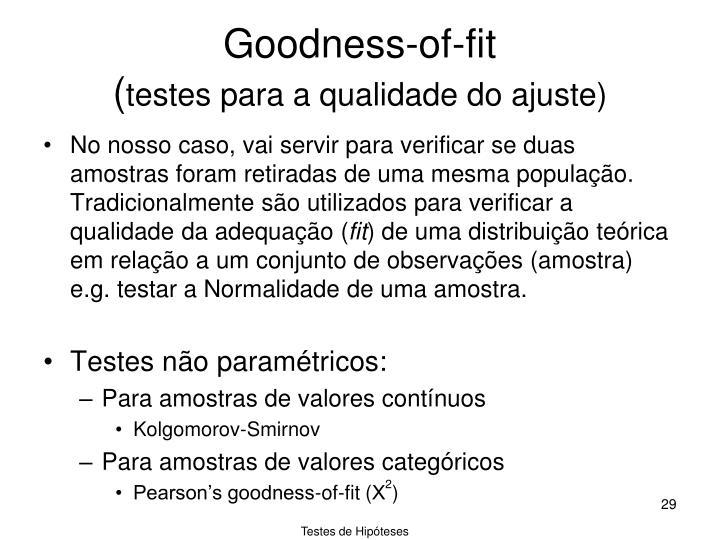 Goodness-of-fit