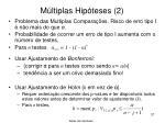m ltiplas hip teses 2